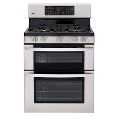 LG�30-in 5-Burner Self-Cleaning Double Oven Gas Range (Stainless Steel), $1439