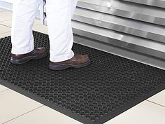 One of the symptoms of dementia is poor balance. Placing a slip resistant mat in an area will prevent any accidents.