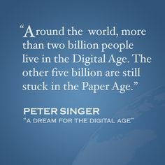 Quote of the Week: Read the full article here  http://www.project-syndicate.org/commentary/mark-zuckerberg-and-the-push-for-global-internet-access-by-peter-singer