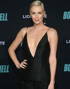Charlize Theron Shining Star, Charlize Theron, Black Heart, My Girl, Camisole Top, Tank Tops, Beauty, Stars, Girls