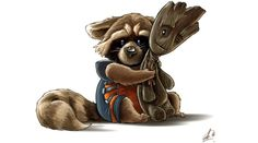 Need More Rocket And Groot? Here's a Ton of Fan Art to Warm Your Heart