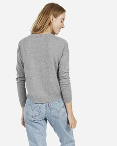 The Cashmere Cropped Crew - Everlane