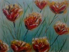 Flores primavera 2 23x30cm. Acrílico