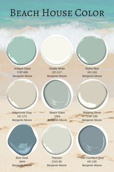 favorite best beach house paint colors benjamin moore Deco Interior House Decor Style Decor Decor types types ideas types landscapes Home Decor Style Interior Chic Decor Beach House Colors, Beach House Decor, Seaside Cottage Decor, Beach Cottage Kitchens, Beach House Bathroom, Beach Bedroom Decor, Beach Theme Bathroom, Beach Cottage Style, House Colors Inside