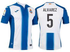 RCD Espanyol #5 Victor Alvarez 2016-17 Home Jersey