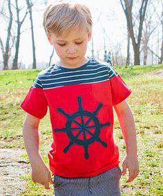 Another great find on #zulily! Red & Navy Navigator Tee - Toddler & Boys #zulilyfinds