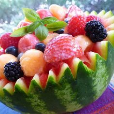 """Strawberry-Melon Summer Salad I """"This was HEAVEN. We absolutely loved it. NO leftovers."""""""