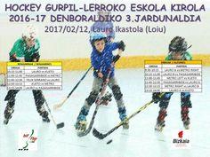 Tercera jornada escolar de hockey línea escolar de Bizkaia