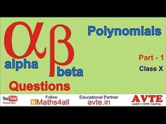 Alpha Beta Questions for Polynomials Part 1 - YouTube