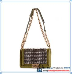 c6fa11560591 Boy Chanel Flap Shoulder Bag Nubuck   Denim A69002 Green|Free Shipping Shop