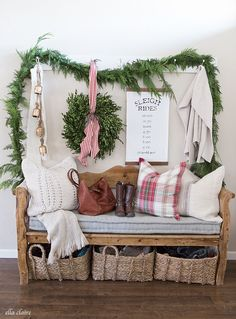 A Sleigh Rides Timeline? - Charming Farmhouse style Christmas Home tour
