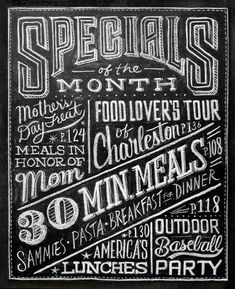 1st - Like the different lettering and always love to see menus like these in restaurants.