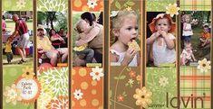 Summer Lovin' - Scrapbook.com - Great layout! #scrapbooking #layouts #scenicroutepaper