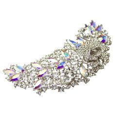 Swarovski Crystal Large Leaf Dress Brooch - Bridal Jewellery - Crystal Bridal Accessories
