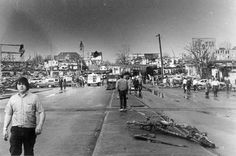Xenia, Ohio tornado, April 1974.  Caused over $100 million in damages in 1974 costs.