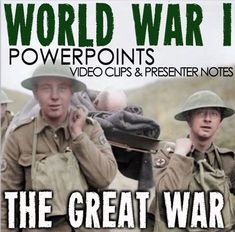 World War I PowerPoint with video clips and presenter notes covers the the atmosphere of Europe leading up the the assassination of Archduke Ferdinand all the way to the Treaty of Versailles.   This 25 slide PowerPoint packed with beautiful graphics, engaging video clips and presenter notes that aid your understanding of each slide and can act as a cheat sheet for details you may forget. Some slides have maps and discussion questions to help engage your students. History Major, History Class, Us History, History Lesson Plans, World History Lessons, 5th Grade Social Studies, Teaching Social Studies, History Teachers, Teaching History