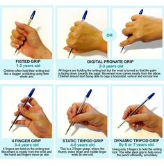 pencil grasp development - real life. www.twitter.com/wholechilded & www.facebook.com/wholechilded