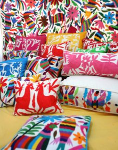 Otomi Overload in the best way!   An article all about Beautiful Otomi Textiles | Paint + Pattern