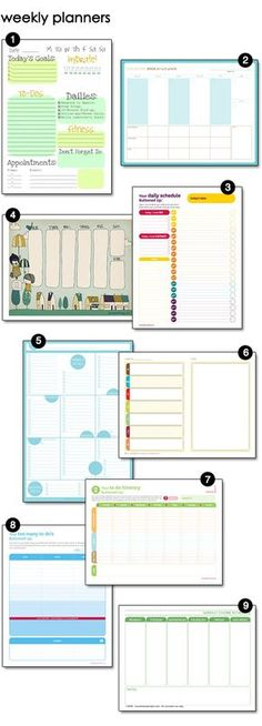 All the printable menus, daily planners & blog calendars you will ever need - FREE