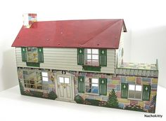 Delightful Vintage Dollhouse, Metal, Great Graphics
