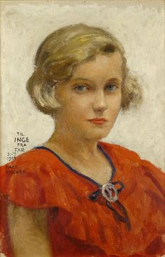 Portrait of the Artist's Daughter, Inge - Paul Gustave Fischer 1933