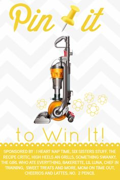 Pin it to Win it! Dyson Giveaway! Come enter on chef-in-training.com for your chance to win! Let the Spring Cleaning begin!!!