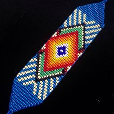 Native American Beaded Bracelet / Prayer Bracelet por TRIBALMUNAYA Peyote Patterns, Beading Patterns, Native American Beadwork, Beaded Jewelry Patterns, Loom Bracelets, Loom Beading, Bead Earrings, Bead Art, Weaving