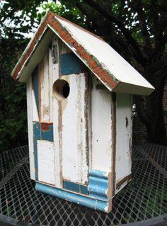 Birdhouse from reclaimed lumber