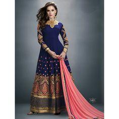 Buy Jambudi Creation Blue Georgette Semi Stitched Suit by jambudi creation, on Paytm, Price: Rs.2299?utm_medium=pintrest
