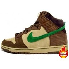 promo code df244 b7a67 Mens Nike Dunk High SB Wood Deck - Tweed  Classic Green