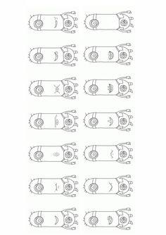 """Passend zum Film """"Minions"""" Mundmotorikkarten mit 13 Übungen und einer Vorlage. Die Übungen von links nach rechts: Lächeln-Kussmund, beide Lippen verstecken Therapiematerial für die Logopädie zu myofunktionelle Störung auf madoo.net Minions, Speech Therapy, Beide, How To Plan, Education, Words, School, Ajak, Angry Birds"""