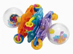 Whoozit baby rattles by the Manhattan Group are being recalled; the clear orbs on the ends of the rattle can break open. The plastic pieces inside can pose choking hazards.