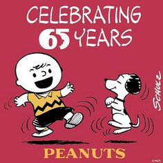 65 years ago today, The first Peanuts comic strip was published. Let's celebrate! #Peanuts65