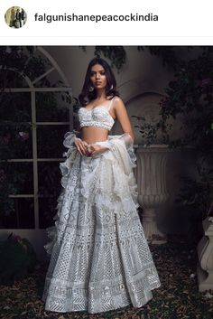 Falguni and Shane Peacock Lehenga 2018