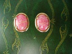 Marbleized Pink Rose Quartz Cufflinks Love by NeatstuffAntiques