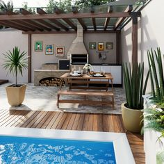 While antiquated in idea, the pergola has been encountering somewhat of a cutting edge new beginning nowadays. A smart open air cover without any dividers (or generally worked as a solitary expansion to one's home), a pergola is a blustery method to Gazebo Pergola, Wood Pergola, Pergola Shade, Pergola Kits, Pergola Ideas, Backyard Ideas, Terrace Design, Patio Design, House Design