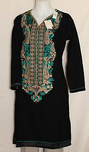 Kurti Tunic Top Black ~ Pretty