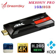32.80$  Watch here - http://alia2s.shopchina.info/1/go.php?t=32779198961 - MK809IV Pro Amlogic S905X Quad-Core 1GB+8GB Android 6.0 HDMI TV Dongle WIFI H.265 Smart Mini TV Stick  #buyonline