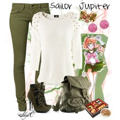 """Sailor Jupiter Inspired Outfit"" by rubytyra on Polyvore"