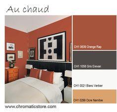 9 meilleures images du tableau chambre orange et gris | Gray bedroom ...