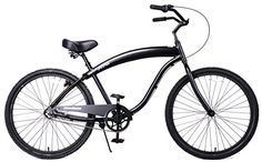AntiRust  Light Weight Aluminum Frame Fito Modena II Alloy 3speed for men All Matte Black 26 Beach Cruiser Bike Bicycle ** You can get additional details at the image link. (This is an affiliate link) #Bikes