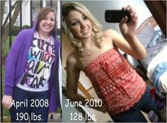190 to 128 -- How she lost 12 dress sizes in 5 months.
