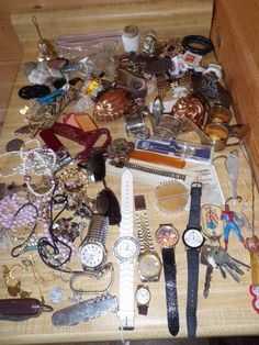 Vintage Jewelry Junk Drawer Lot Crafts Repurpose Restoration