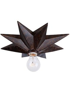 Astro Flush Mount Ceiling Light or sconce in English bronze // House of Antique Hardware $150