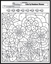 Fun and creative color by number coloring pages.