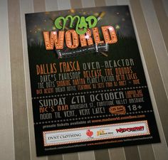 Mad World Festival logo & poster, October 6th