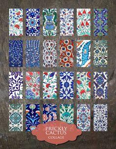 Domino Clip Art Iznik Tiles Digital by PricklyCactusCollage