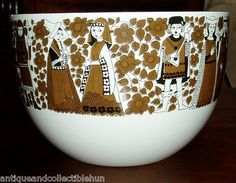 Arabia Finland Vintage Enamelware Finel Bowl by Kaj Franck Esteri Tomula Vintage Crockery, Nordic Design, Marimekko, Hand Painted Ceramics, Scandinavian Style, Earthenware, Finland, Pottery, Dishes