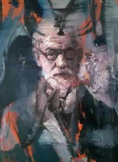 "Saatchi Art Artist Liviu Mihai; Painting, ""About Sigmund Freud"" - Featured on The 3 Things To Look For In An Emerging Artist -  http://canvas.saatchiart.com/art/art-news/the-3-things-to-look-for-in-an-emerging-artist"