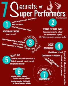 Cool things to keep in mind when performing